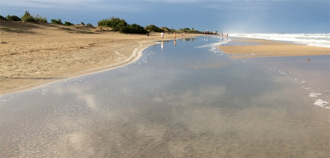 A view of agde beach