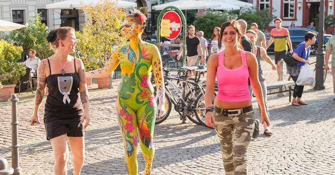 Norway bodypainting
